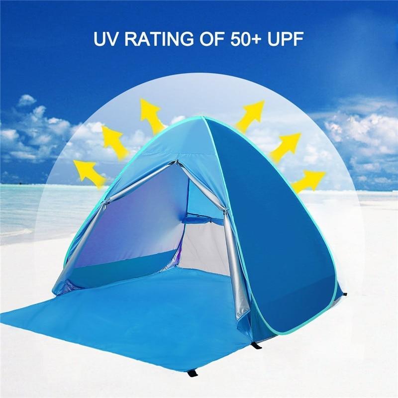 Pliable automatique Pop Up tente extérieure Portable 2 personnes Anti UV auvent tentes pour Camping plage abri solaire tente ultralégère