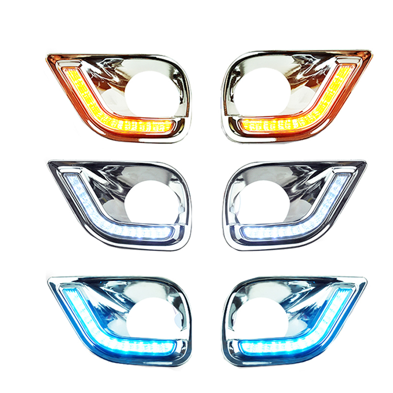 DRL For Toyota RAV4 RAV 4 2013 2014 2015 2016 LED DRL daytime running lights fog light cover headlamp daylight