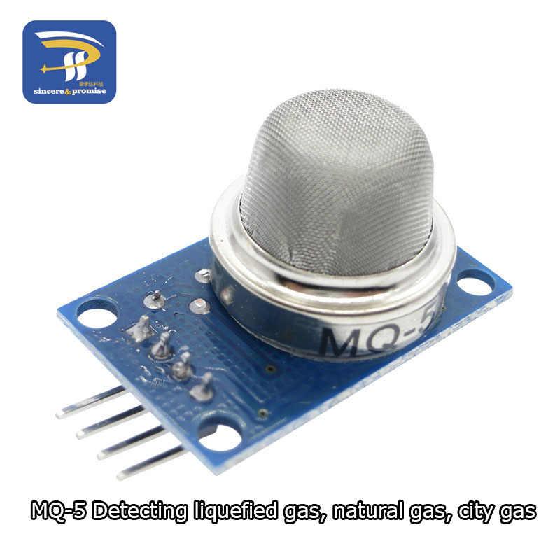 MQ-2 MQ-3 MQ-4 MQ-5 MQ-6 MQ-7 MQ-8 MQ-9 MQ-135 Deteksi Asap Metana Gas Cair Sensor Modul untuk Arduino Starter DIY kit