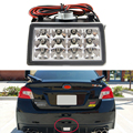 Limpar Lens Chrome Estilo F1 LEVOU Kit de Luz de Nevoeiro Traseira Para 2011-up Subaru WRX STi, Impreza ou VX Crosstrek com Chicote de Fios & Montagem