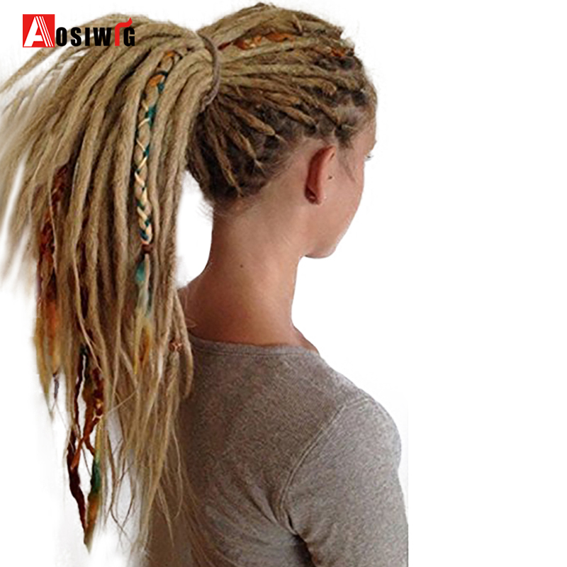 Hair Braids 24 Inch 1-10pcs/lot Synthetic Handmade Dreadlocks Hair Extension Braiding Hair Kanekalon Reggae Hair Soft Crochet Braid Jumbo Braids