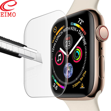 EIMO Screen Protector Film for Apple Watch 4 Iwatch band 44mm 40mm TPU 9D Anti-Shock waterproof Full Coverage Protective