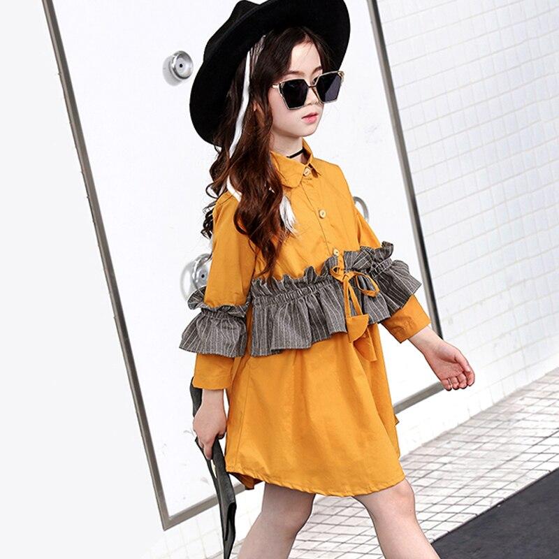 ФОТО New Arrival Spring 2017 Elegant Solid Baby Girls Dress Dresses Long Casual Cotton Straight Kids Girls Clothes Dress Dresses OT31