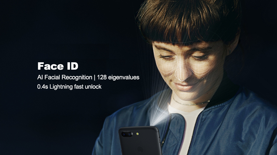 Face ID AI Facial Recognition 128 eigenvalues 0.4 S Lightning fast unlock