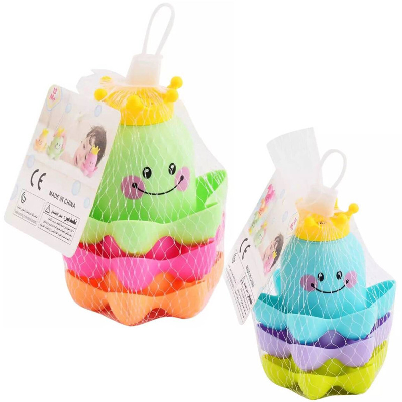 Bathroom Ocean Octopus Stacking Cups Child's Play Mouth Educational For Children Baby Bath Toys