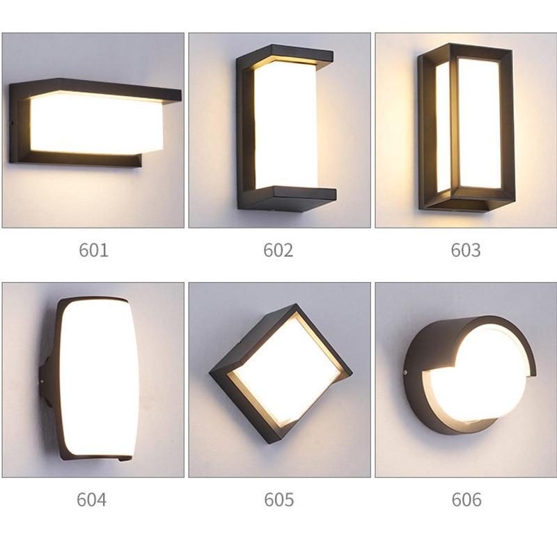 20W LED wall lamp waterproof IP66 door light modern LED staircase balcony garden garden outdoor wall lamp AC85~265V цена 2017