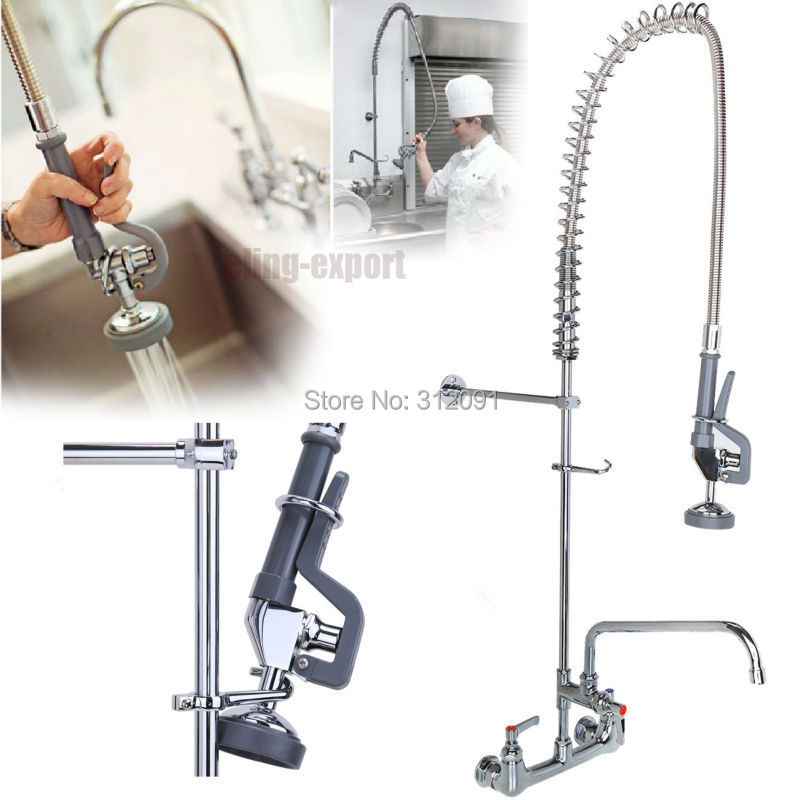 ship from us commercial wall mount kitchen prerinse faucet w 12