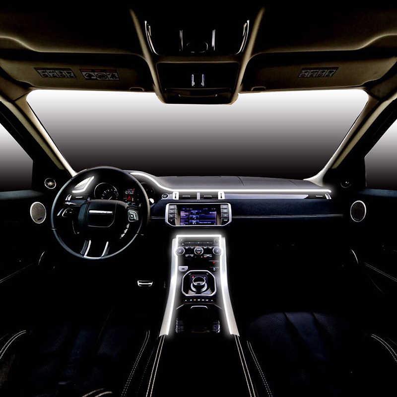 5 в 1 Автомобильный светодиодный Ленточные огни RGB свет светодиодный Автомобильный интерьер неоновый со звуком активная функция для iPhone Android смартфон 12 в комплект