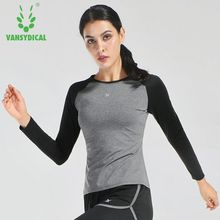 Dry Quick Gym Fitness T Shirt Compression Tights Women Sport T Shirts Running Long Sleeve T-shirts Women t-shirts & top