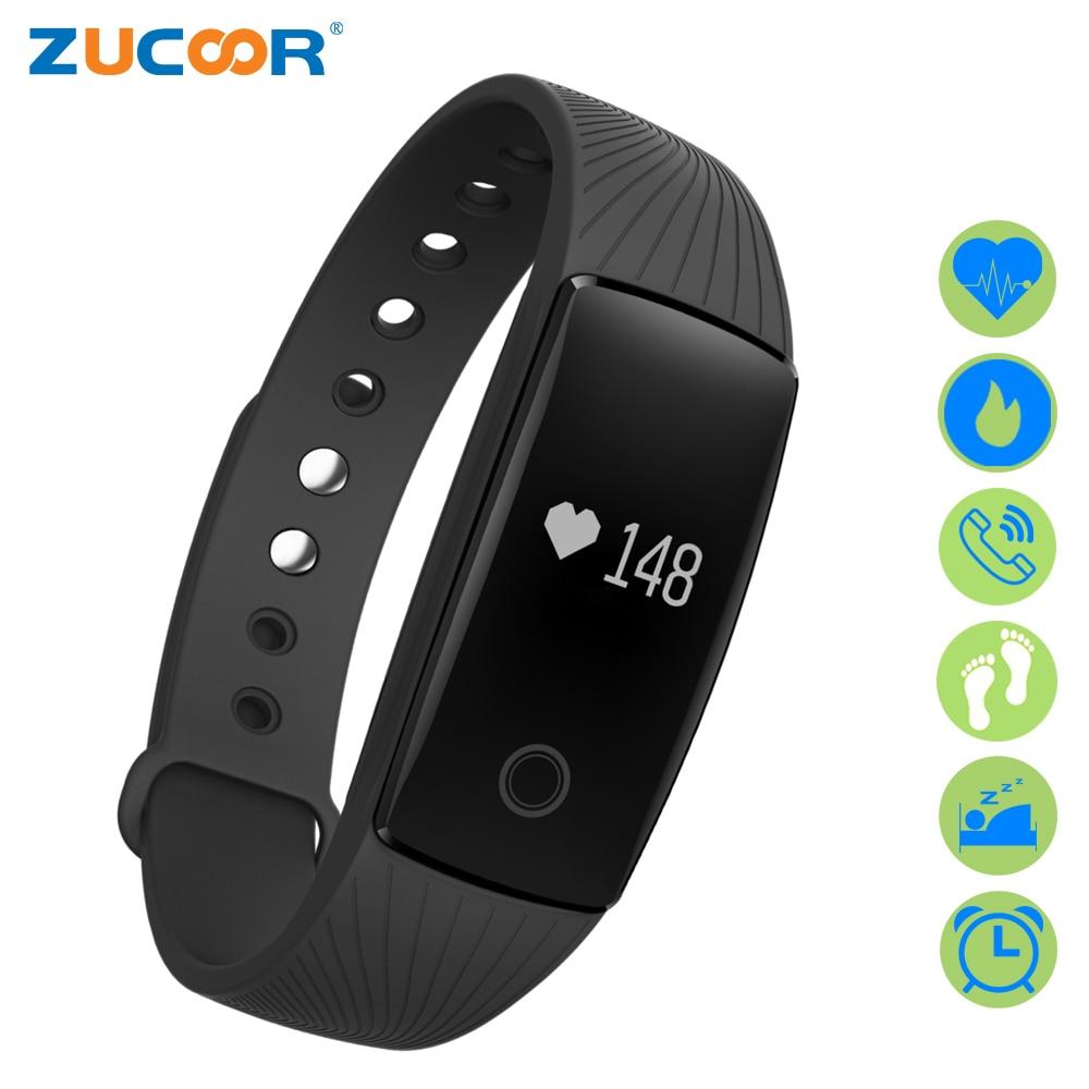 ZUCOOR Smart Bracelet Bracelets Fitness Band V05C Pedometer Heart Rate Monitor Health Pulseira Smartband Pulse Watch