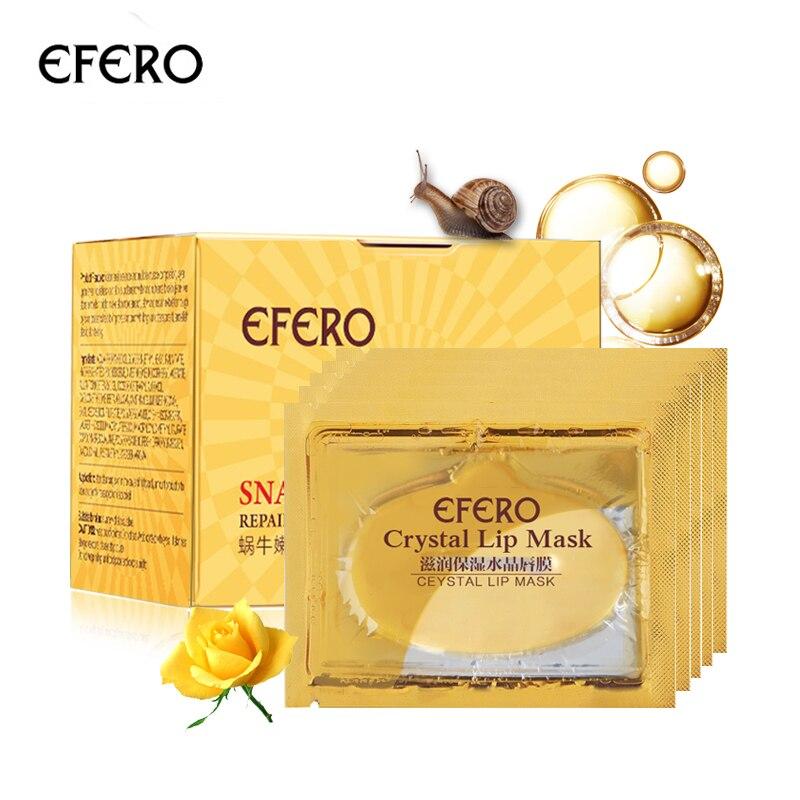 efero Snail Cream  Moisturizing Essence Whitening Face Cream Hydrating Anti-aging Cream&5pcs Lip Masks for Lip Patches Face Care