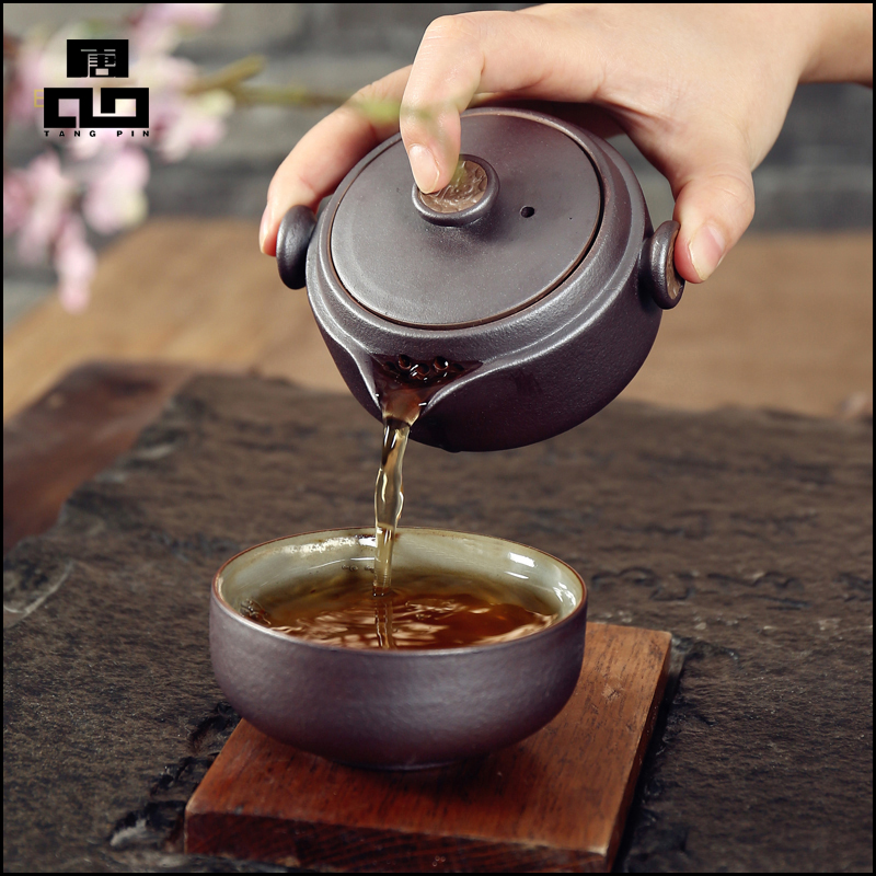TANGPIN 2017 new arrival black black crockery teapot ceramic tea cup gaiwan portable travel tea set