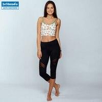Sexy Women Gym Yoga Pants Set Sport Suit Print Jogging Top Outdoor Sportswear Fitness Running Pants