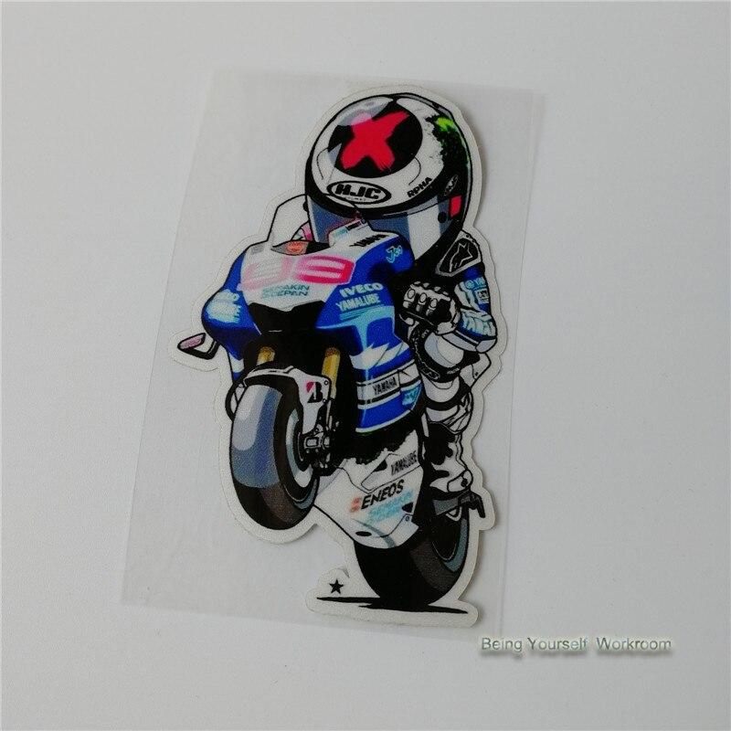 Ecoshirt JJ-2FZ8-9H99 Aufkleber Jorge Lorenzo 99 Pg18 Aufkleber Motorrad GP Decals