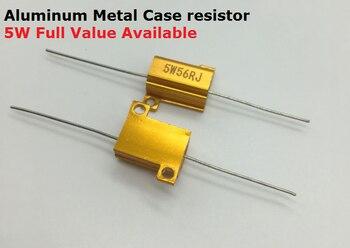 5 шт. RX24-5W-R22J R5J 2RJ 2.2RJ 4.7RJ 5% Золотой Алюминий металлический корпус резистор 0.22R 0.5R 2R 2.2R Wirewound высокой Мощность металлический корпус