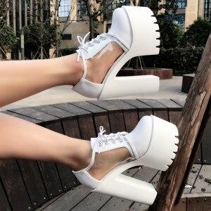 2020 autumn new muffin crude with single shoes 15 cm super high heel women's shoes nightclub waterproof platform sexy high heels