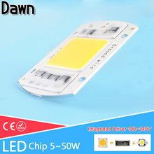 COB LED Light Chip 220V 190~240V Integrated Smart IC Lamp 5W 10W 20W 30W 50W For Outdoor FloodLight Downlight Cold/Warm White