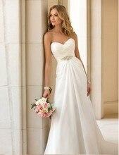Кость/красный белый/слоновая novia boho складе шифон пляж свадебные платья платье на