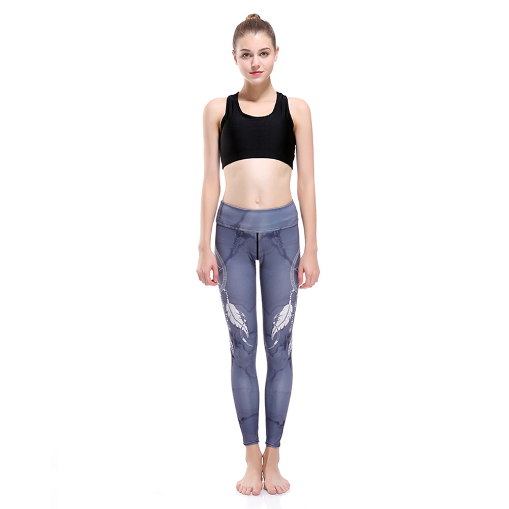 21f3113ee414 Sport Kompressa Leggings Wind Chimes Skriv ut Yoga Byxor Kvinnor ...