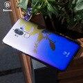 Baseus original brand Glaze Case For Huawei mate 9 luxury Aurora Gradient color Transparent Case light Cover Hard PC Case