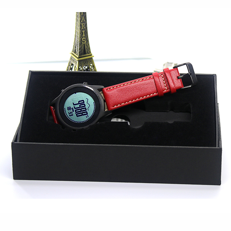 SPOVAN Men Women Sport Watch Fashion Ultra Thin Carbon Fiber Dial Red Genuine Leather Altimeter Barometer Multifunction watches - 6