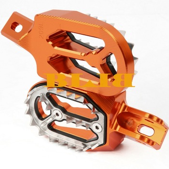 For KTM 250 SX EXC 250SX 250EXC 1998-2015 2014 2013 2012 Footrests Foot Stakes Footpegs Sharp Teeth CNC Dirt Bike Moto Race Part