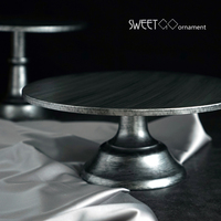10inch Silver Cake Stand For Fondant Cake Decorating Tools Vintage Style Wedding Backing Accessories Bakeware Kitchen
