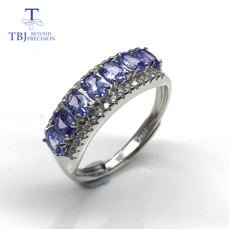 tanzanite rings natural gemstone with 925 sterling silver simple style Romantic small ring fine jewelry for