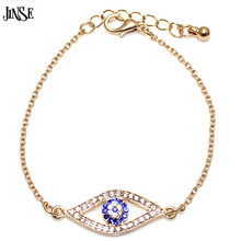Silver Gold Plated Blue Evil Eye Greek Mati Turkish Nazar Crystal Chain Bracelet цена