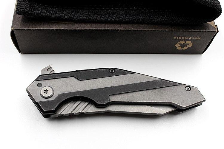 Купить с кэшбэком 2020 New Hot Sale All Steel Fixed Outdoor Tactical Folding Knife Self-defense Wilderness Survival High Hardness Fruit Knives