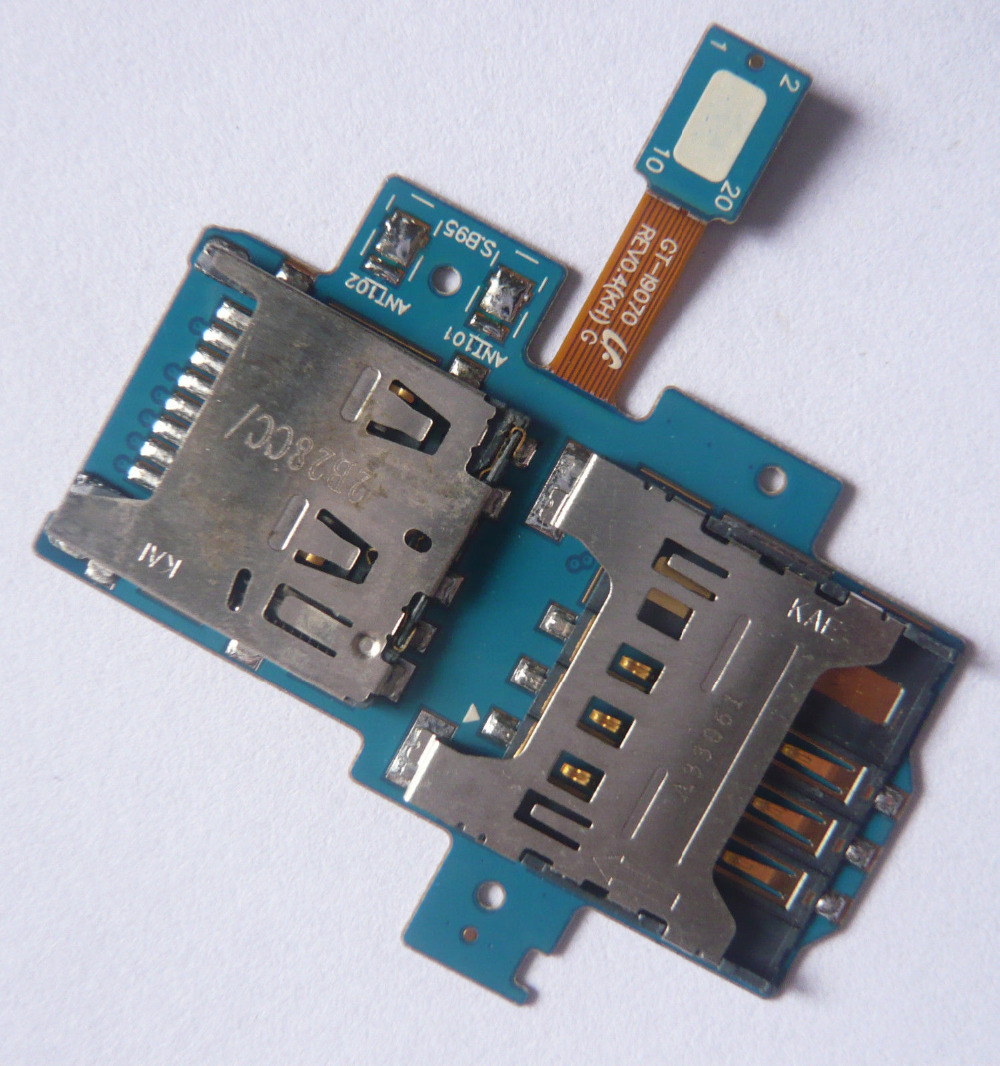 SIM Card +Memory Card Holder Slot Flex Cable For Samsung Galaxy S Advance i9070 FC_i9070_SimCardFlexCable