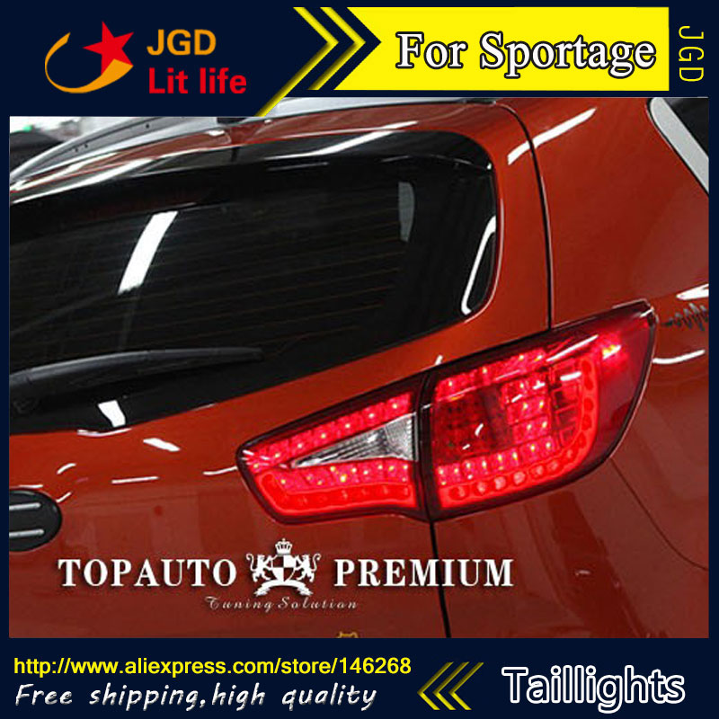 Car Styling tail lights for KIA Sporttage 2012 2013 LED Tail Lamp rear trunk lamp cover drl+signal+brake+reverse car styling tail lights for hyundai santa fe 2007 2013 taillights led tail lamp rear trunk lamp cover drl signal brake reverse