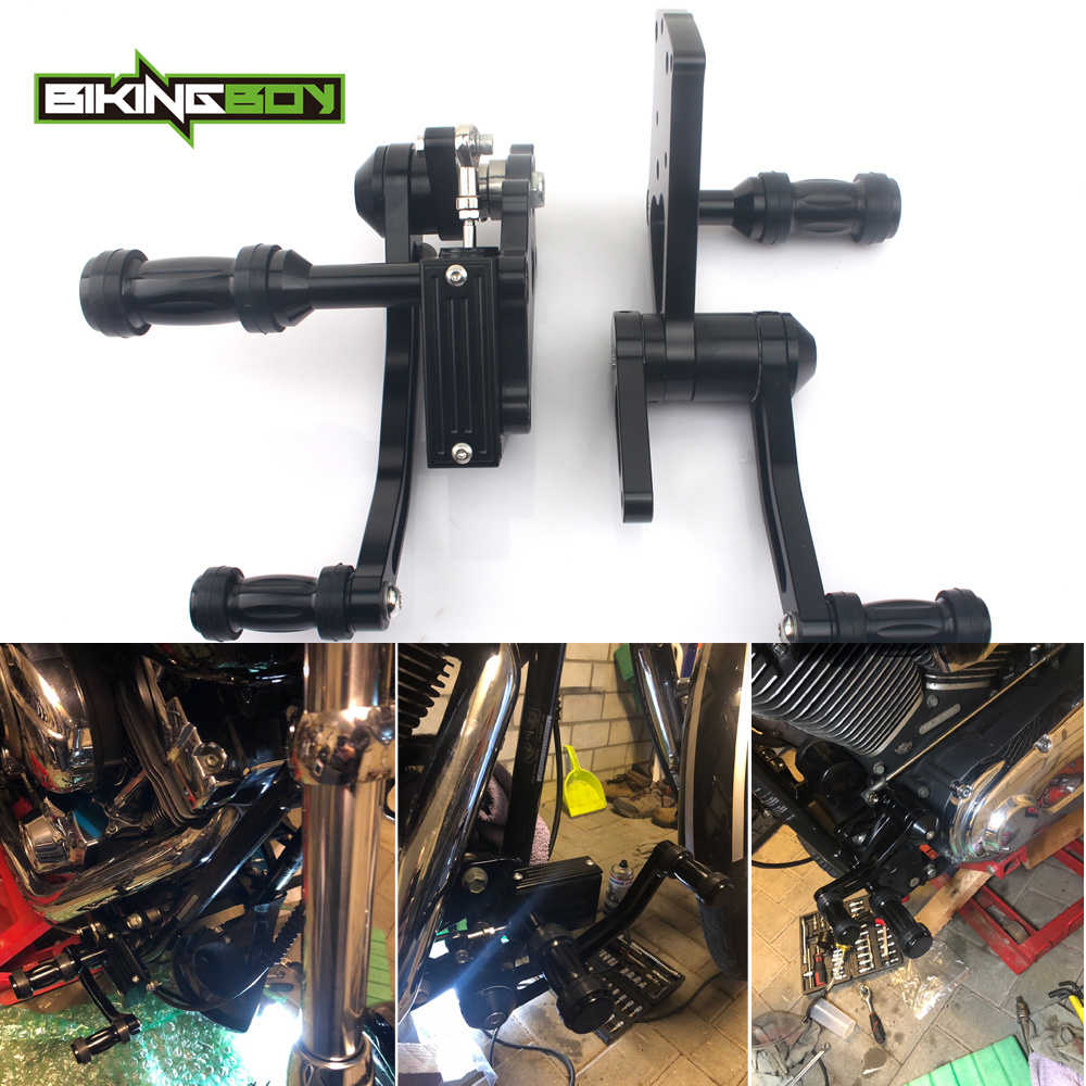 BIKINGBOY CNC Billet Forward Controls Foot Rests Foot Rest Rearsets For Harley Davidson SOFTAIL 01 02 03 04 05 06 07 08 09 10-16