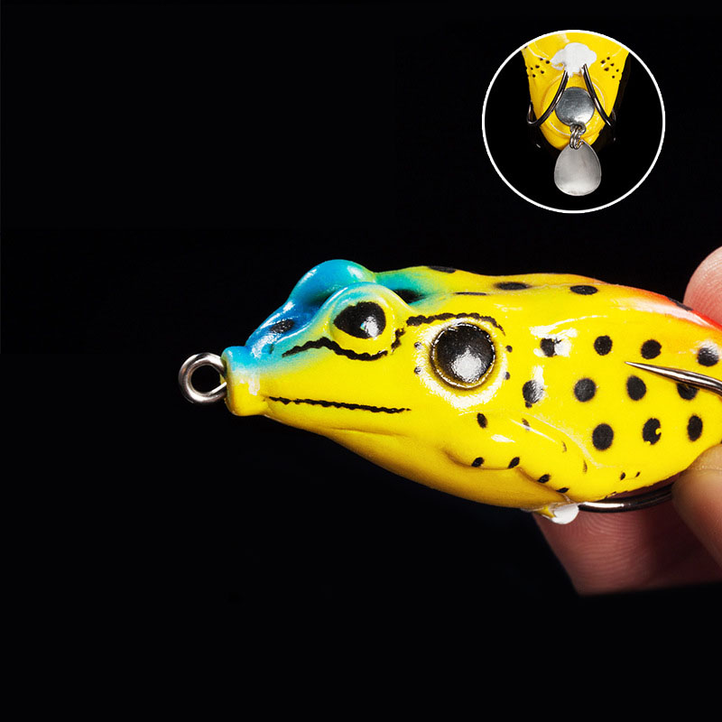 WALK FISH 1PCS High Quality Kopper Live Target Frog Lure 13g Snakehead Lure Topwater Simulation Frog Fishing Lure Soft Bass Bait