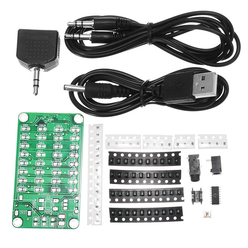 8*4 Level Indicator Kit SMD Soldering Practice Board Audio Spectrum Indicator Electronic