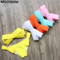 Bikini Sets Stylish Swimsuit Women Print Bikinis 2015 Sexy Retro Fringe Tassel Beach Bathing Suit Push
