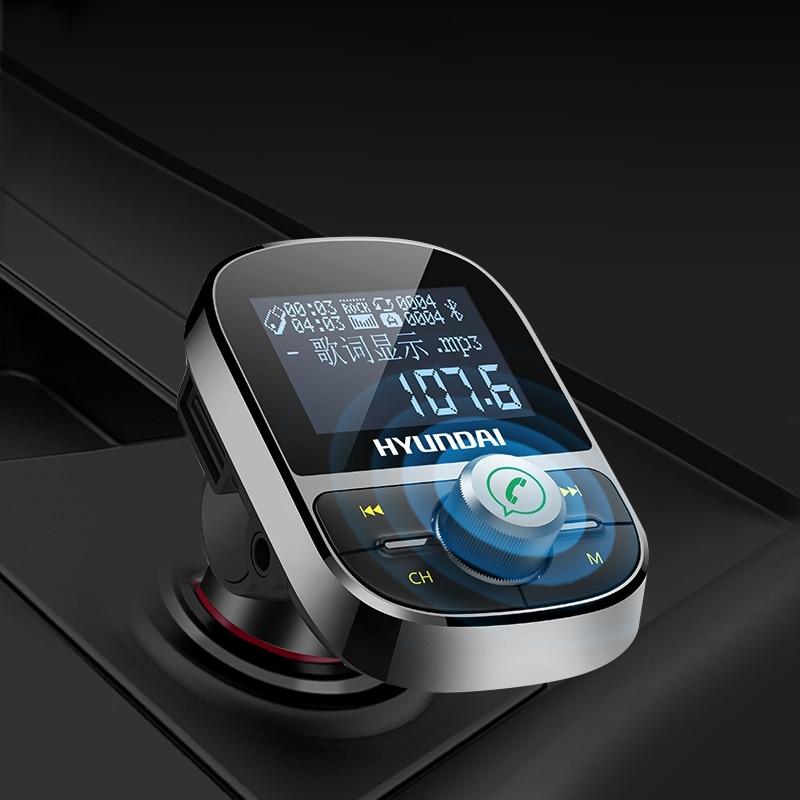 Coche MP3 Player transmisor FM Bluetooth manos libres Kit de coche Audio MP3 modulador 1,44 pulgadas pantalla 2.1A coche USB cargador