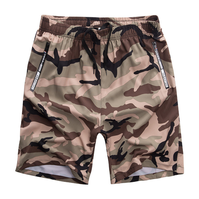 New Summer 2019 Mens Beach Board Camouflage Military   Shorts   Plus SIZE For 60-140KG FIT Waist 29-50 Inch 92% Polyester