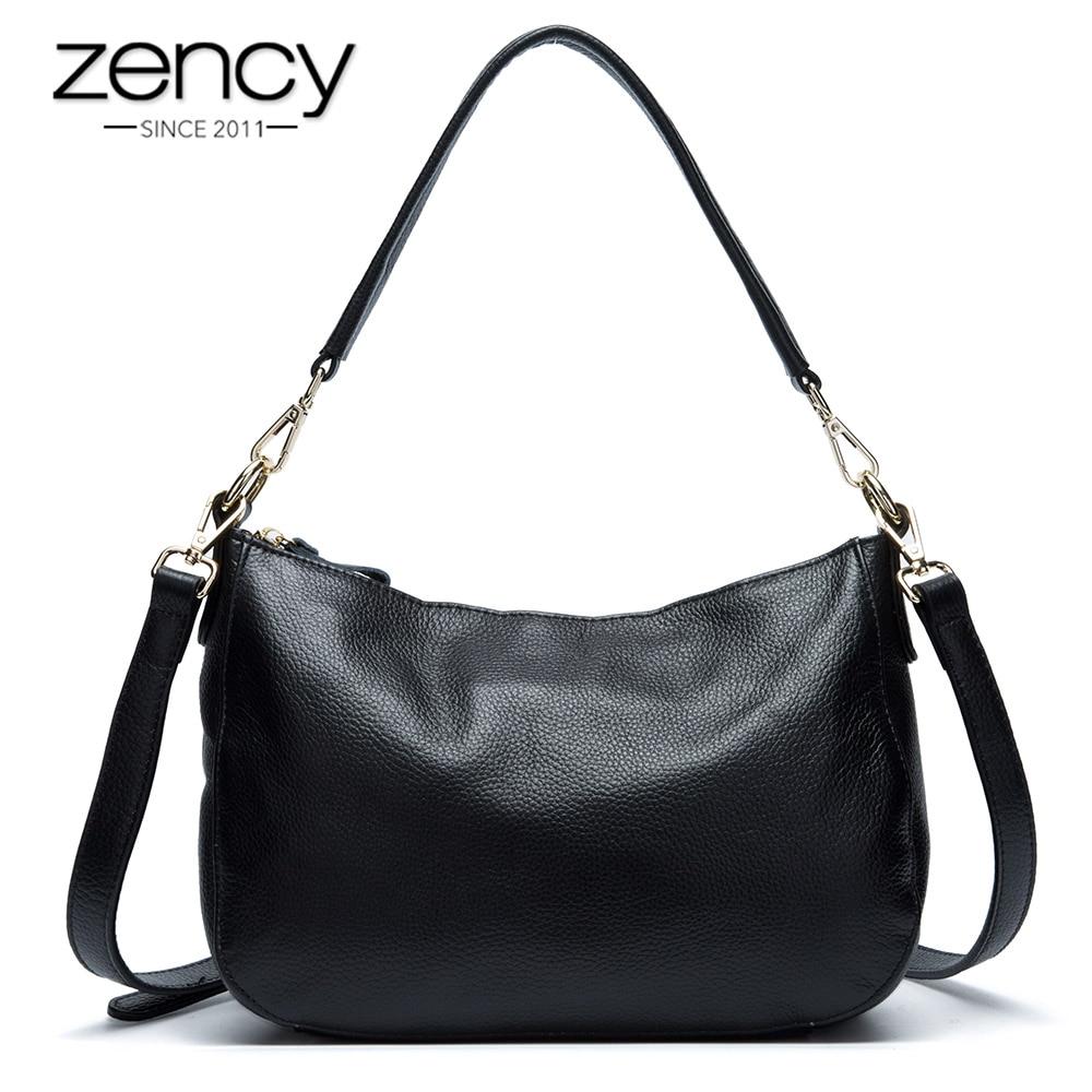 Zency 100 Genuine Leather Women Shoulder Bag Fashion Casual Tote Ladies Messenger Crossbody Purse Elegant Charm
