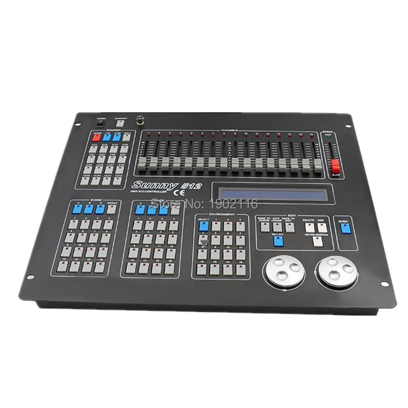 Sunny 512 DMX Controller DJ Equipment DMX 512 Console Stage Lighting For LED Par Moving Head Spotlights DJ Controller