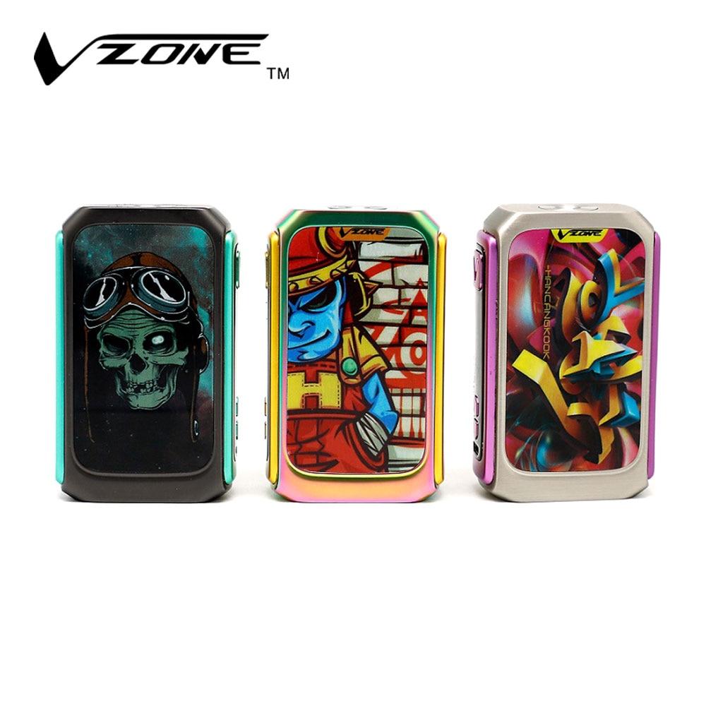 Electronic cigarettes vzone graffiti 220w tc ka box mod norm soft hard user mode vape vaporizer no battery electronic cigarette in electronic cigarette