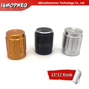 Image 1 - 5 sztuk pokrętło potencjometru ze stopu aluminium przeciwpoślizgowe pojedyncze podwójne potencjometr specjalne trąbka 13*17mm 13*17 pokrętło