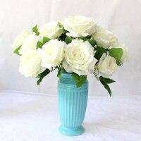 1 шт. большой букет роз Шелковый цветок Искусственный flowershome Свадебные украшения srtificials цветок дешевые хорошее качество