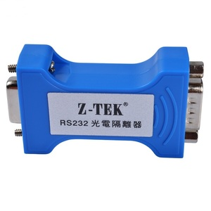 Image 2 - Z TEK RS 232 serial port optoelectronic isolator 9 pin serial RS232 lightning protection surge 3 Bits Isolated Converter