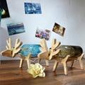 DIY Творческий Стол Светодиодные Светильники Современные светодиодные Лампы ночь дерево + стекло Тени для Детей Дети детские Ночные Светодиодные Фонари