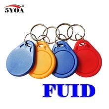 5 ชิ้น/ล็อต FUID: One   time UID เปลี่ยนได้ Block 0 เขียนได้ 13.56 เมกะเฮิร์ตซ์ RFID keyfobs Token Key clone