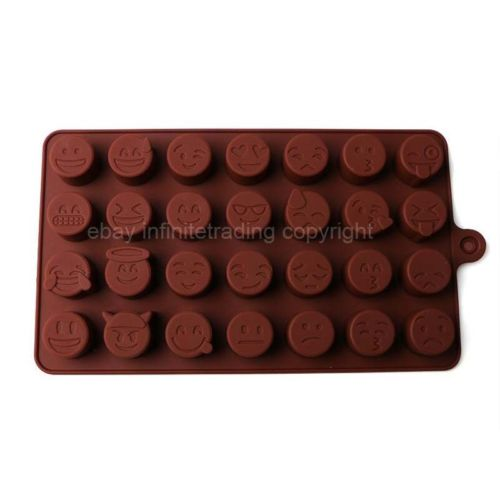 Diy Emoji Qq Cake Chocolate Cookies Ice Cube Soap Silicone Mold Tray Baking Mold Personality Expression Ice Mold Kitchen,dining & Bar