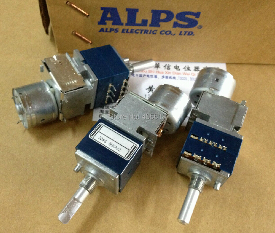 Japan ALPS 50KAX2 Motorized Volume Potentiometer RK27 Dual 50K Rounded handle vishat spectrol 157 50k potentiometer 50k potentiometer sealed