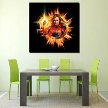 Avengers Endgame Carol Danvers Captain Canvas Painting Posters Prints Wall Art Paintings Modern Home Decor Decorative Pictures