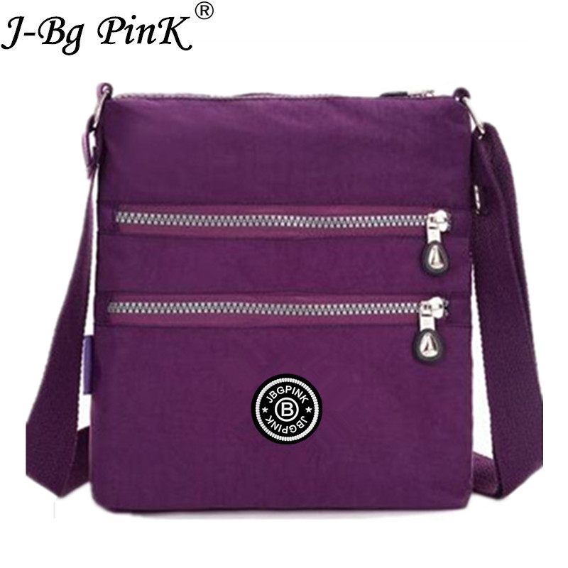 J-BG PinK 2017 New Nylon Bags Female Zipper waterproof Handbags Women Bags Solid Shoulder Beach Bag Sac A Main free delivery все цены